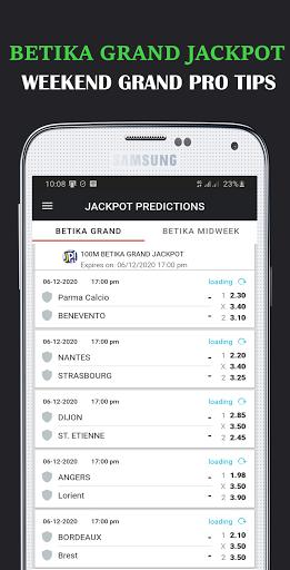 Jackpot Predictions - Midweek & Mega Jackpot  tips screenshot 1