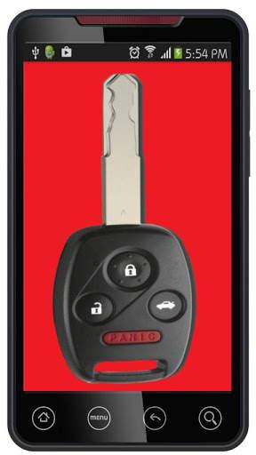 مفتاح السيارة عن بعد قفل محاكي 5 تصوير الشاشة