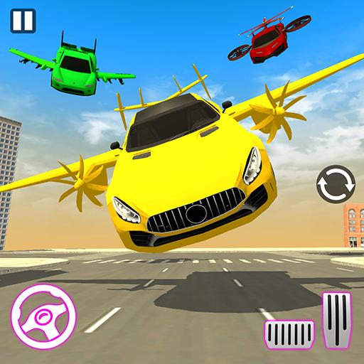 Real Light Flying Car Racing Simulator Games 2020 icon