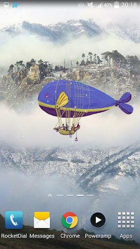 Flying World Live Wallpaper 2 تصوير الشاشة