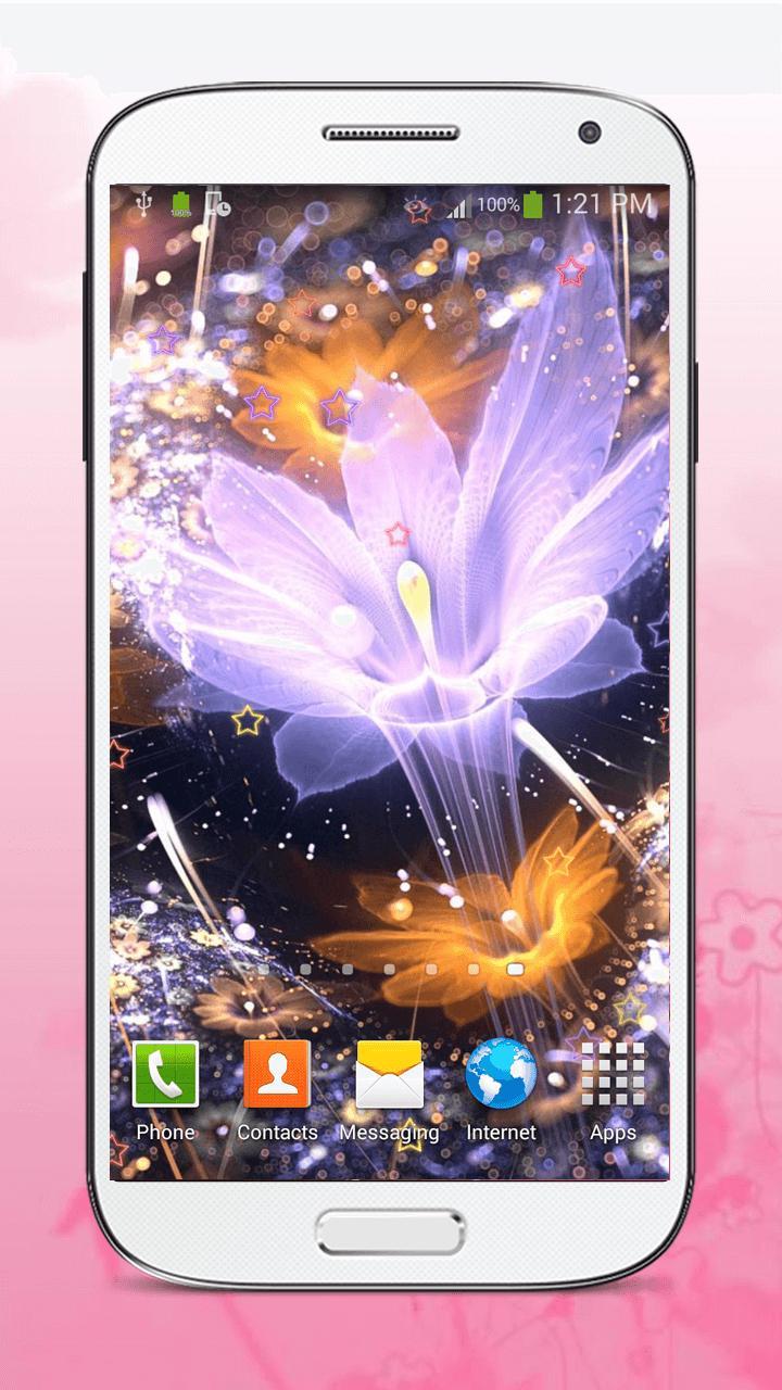Luminous Flower Live Wallpaper screenshot 2