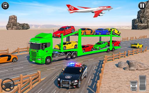 Crazy Car Transport Truck:New Offroad Driving Game screenshot 4