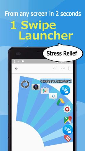 Quick Arc Launcher 2 ( Smart One Swipe Launcher ) screenshot 1