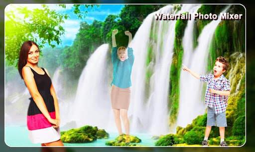 Waterfall Photo Blender : Photo Mixer स्क्रीनशॉट 4