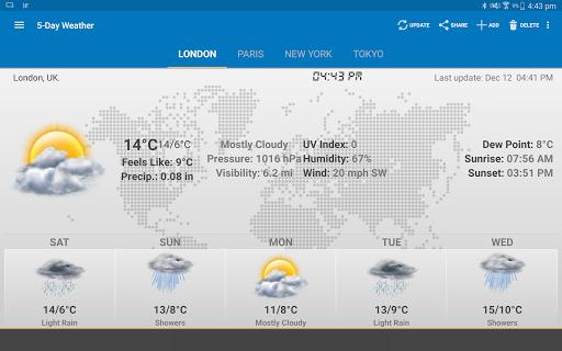 الطقس وويدجت الساعة لأندرويد - توقعات الأرصاد 14 تصوير الشاشة