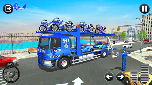 Police Bike Transport Truck screenshot 20
