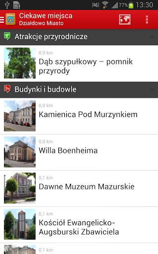 Miasto Działdowo - przewodnik 4 تصوير الشاشة