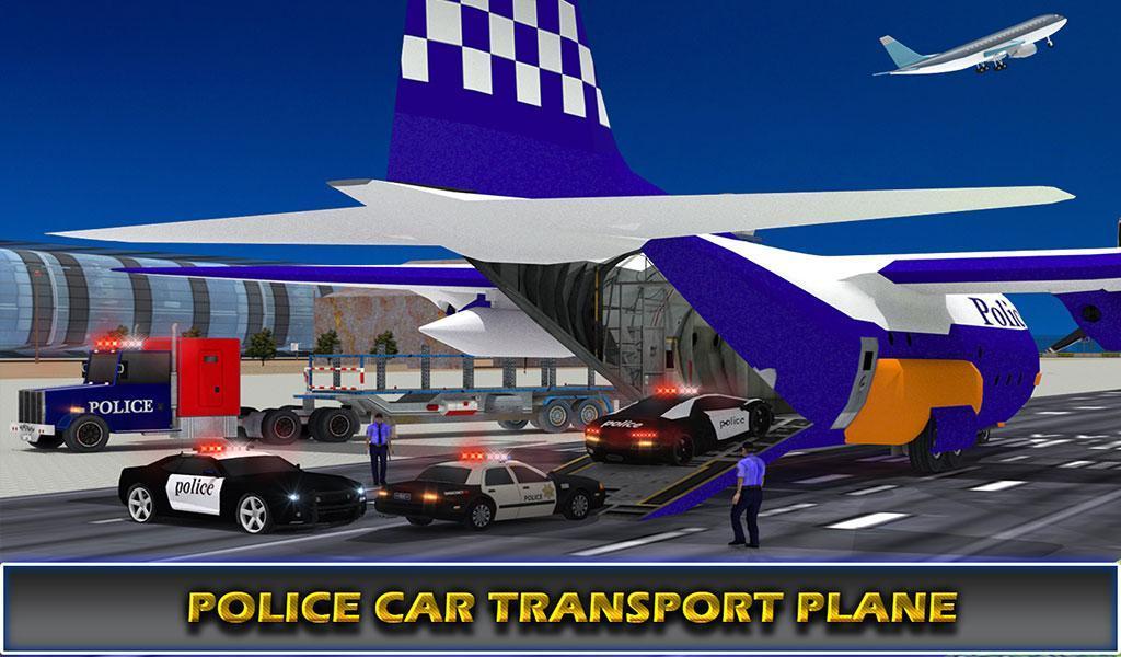 US Police Airplane Cop Dog Transporter Kids Games screenshot 18