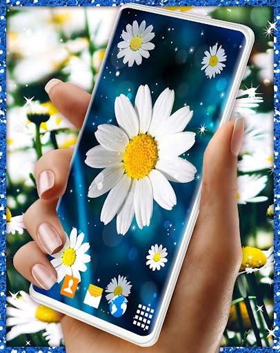 3D Daisy Live Wallpaper 🌼 Spring Field Themes screenshot 3