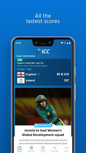ICC - Live International Cricket Scores & News 3 تصوير الشاشة