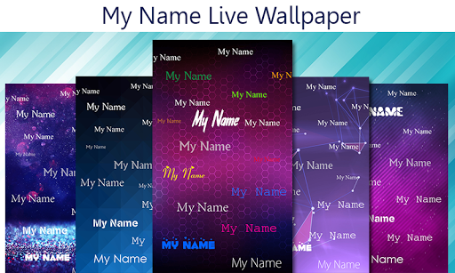 My name live wallpaper 1 تصوير الشاشة