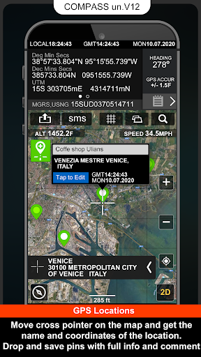 Digital Compas, Gps Status, Sensor information screenshot 3
