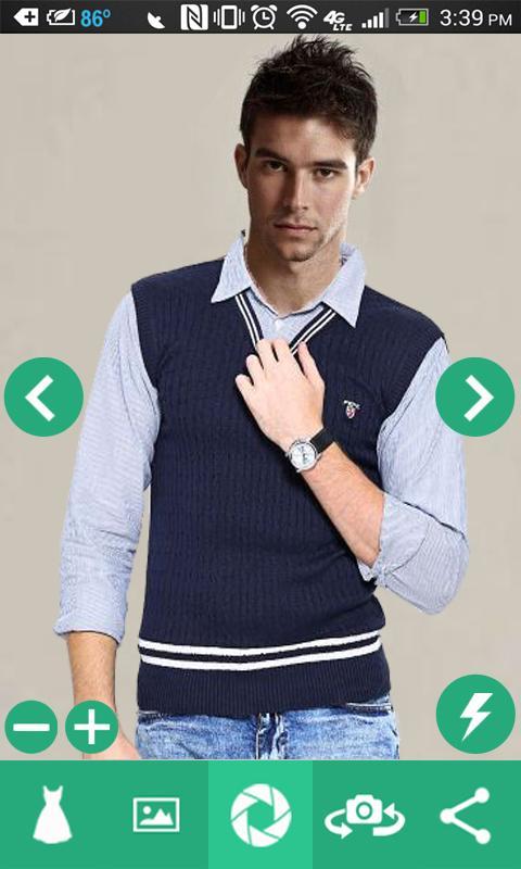 Man Shirt Photo Suit 4 تصوير الشاشة