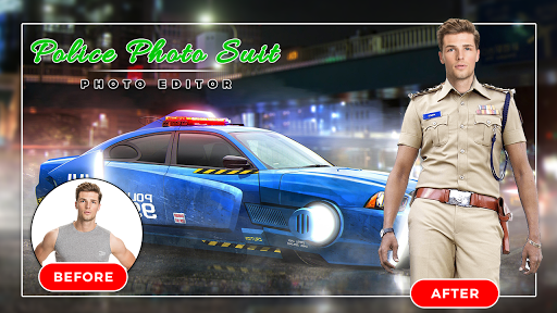 Men Police suit Photo Editor - Police Dresses screenshot 7