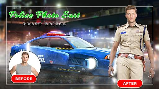 Men Police suit Photo Editor - Police Dresses screenshot 7