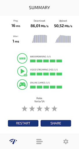 Speed Test Light 5G / 4G LTE / WiFi screenshot 3