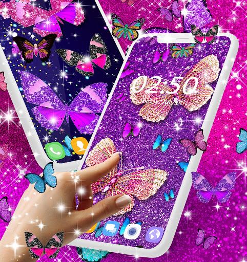 Glitter butterfly live wallpaper 1 تصوير الشاشة