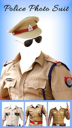 Men Police suit Photo Editor - Police Dresses screenshot 2