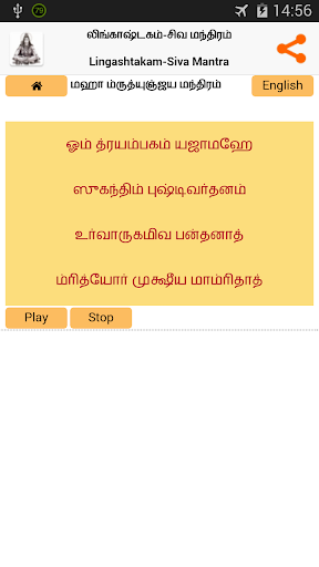 Lingashtakam in Tamil (Shiva) 4 تصوير الشاشة