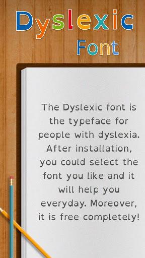 Dyslexic Font for FlipFont , Cool Fonts Text Free screenshot 1