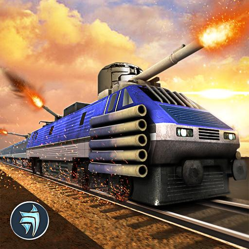 Police Train Shooter Gunship Attack : Train Games icon