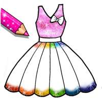 Glitter Dresses Coloring Book - Drawing pages on APKTom