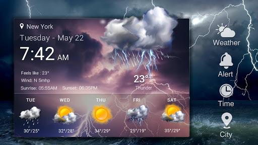 Z Style Weather Widget 14 تصوير الشاشة