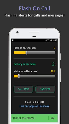 Flash On Call 2019 Flashing Alerts & Notifications screenshot 2