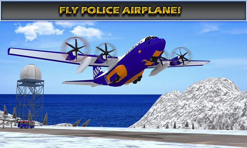 US Police Airplane Cop Dog Transporter Kids Games screenshot 8