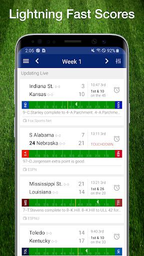 College Football Live Scores, Plays, & Schedules 1 تصوير الشاشة