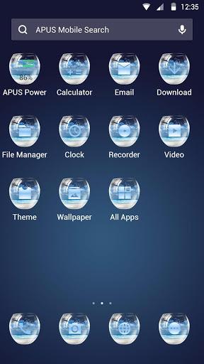 زجاجة APUS Launcher theme 2 تصوير الشاشة