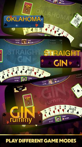 Gin Rummy - Offline Free Card Games 10 تصوير الشاشة