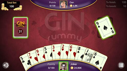 Gin Rummy - Offline Free Card Games 8 تصوير الشاشة