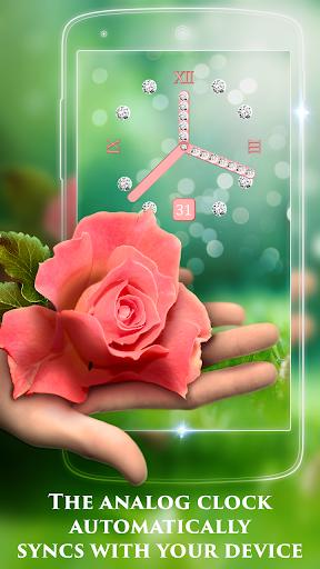 Rose Clock Live Wallpaper screenshot 2