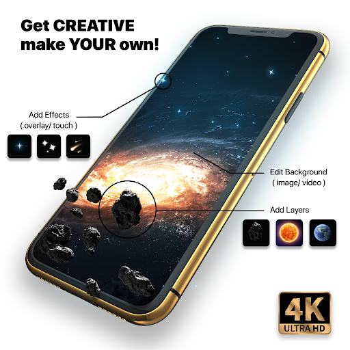 Live Wallpapers 4k & HD Backgrounds by WAVE screenshot 6