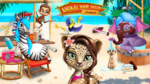 Jungle Animal Hair Salon 2 - Tropical Beauty Salon स्क्रीनशॉट 2