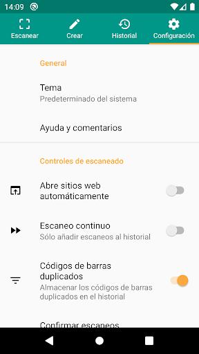 Lector de códigos QR y barras (español) screenshot 8