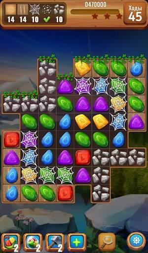Самоцветы или кристаллы ?  Три в ряд screenshot 2
