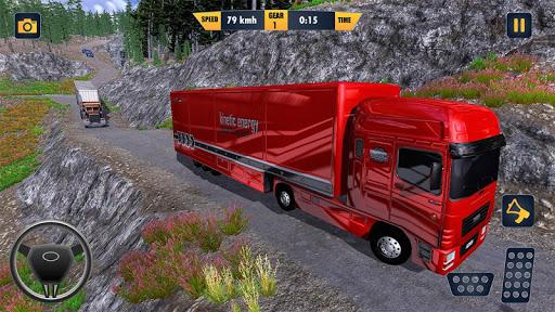 American Truck Cargo Car Transporter Driving screenshot 1