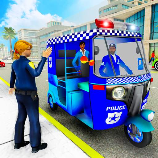Police Tuk Tuk Auto Rickshaw Driving Game 2020