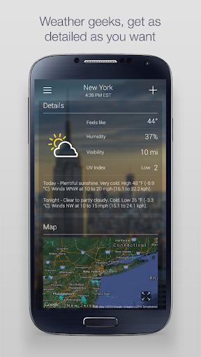 Yahoo Weather 3 تصوير الشاشة