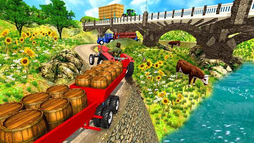 Real Tractor Trolley Cargo Farming Simulation Game screenshot 5