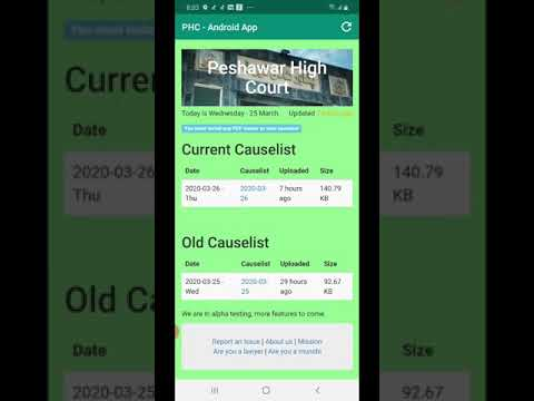 PHC Causelist screenshot 1