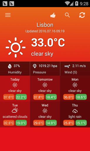 الطقس البرتغال 1 تصوير الشاشة