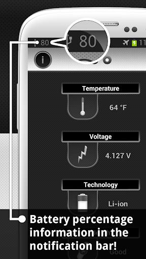 Show Battery Percentage 1 تصوير الشاشة