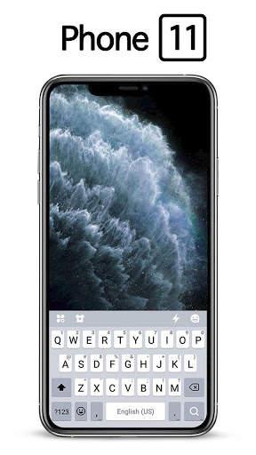 Silver Phone 11 Pro Keyboard Theme screenshot 2