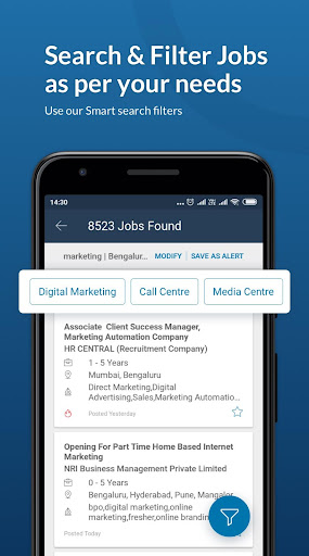 Naukri.com Job Search App: Search jobs on the go! 1 تصوير الشاشة