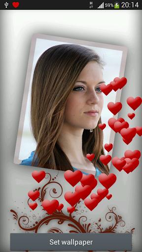 Romantic Live love wallpaper 1 تصوير الشاشة