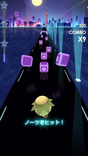 ビートラッシュ!Beat Runner!人気曲音楽リズムゲー screenshot 1