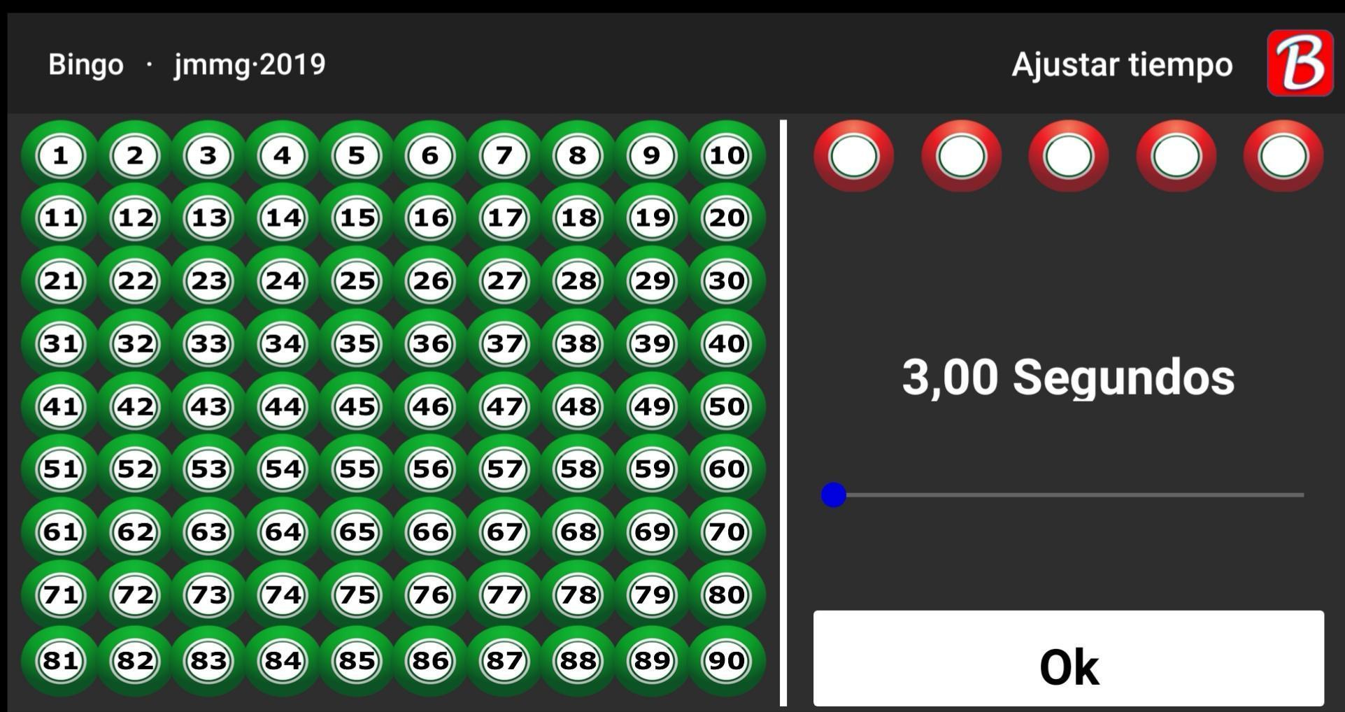 Jugar al BingO - Números del Bingo. 4 تصوير الشاشة